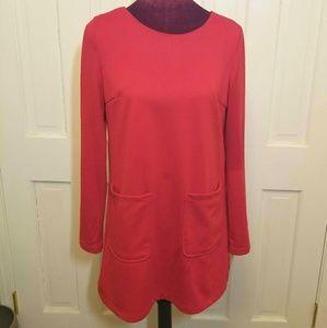 Long Sleeve Red OASAP Mini Dress